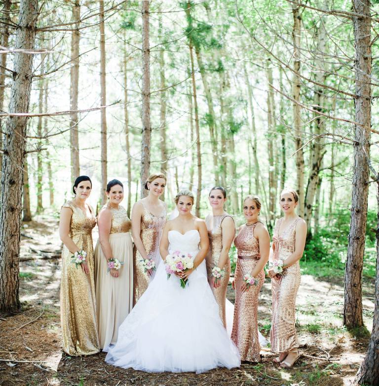 Sudbury wedding in woods