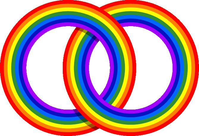 rainbow interlocking rings