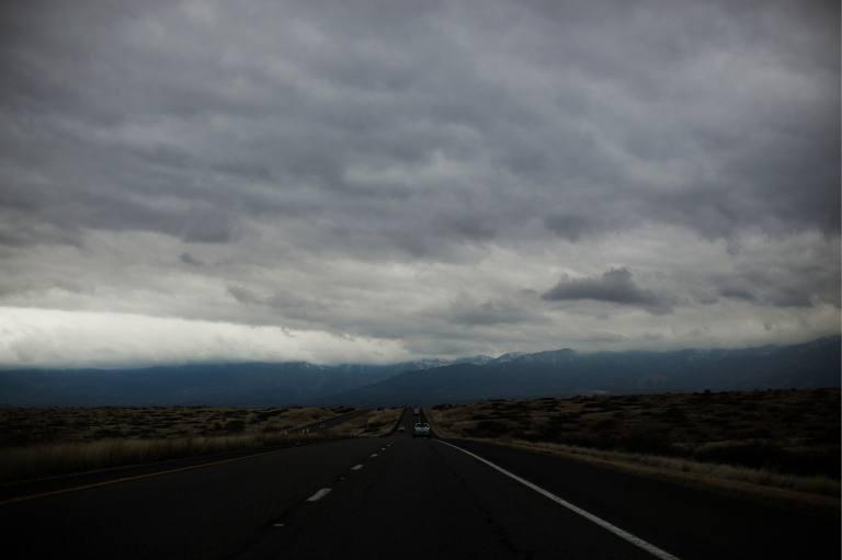 Clouds over a sky in Arizona