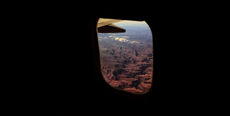 Grand Canyon out of airplane window